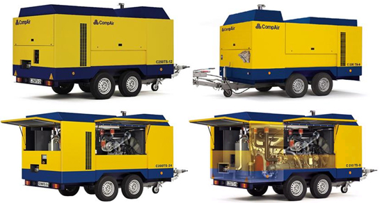 CompAir mobile compressors